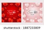 valentine's day sale 50  off... | Shutterstock .eps vector #1887233809