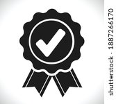 checkmark or approved badge in... | Shutterstock .eps vector #1887266170