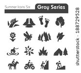 summer icons  gray series | Shutterstock .eps vector #188729528