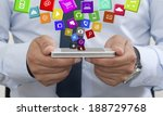 using a mobile phone with apps | Shutterstock . vector #188729768
