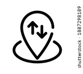 position icon or logo isolated...