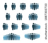 people group icon set  working...   Shutterstock .eps vector #1887303733