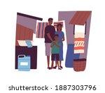 portrait of dark skin poor... | Shutterstock .eps vector #1887303796
