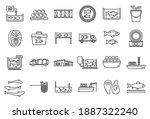 food fish farm icons set....   Shutterstock .eps vector #1887322240
