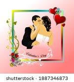 valentine s day. 14 february.... | Shutterstock .eps vector #1887346873