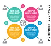 infographic business concept  ... | Shutterstock .eps vector #188734838