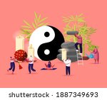 feng shui oriental philosophy... | Shutterstock .eps vector #1887349693
