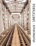 Railroad Bridge And Rails Of...