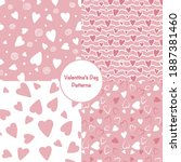 collection of valentine's day...   Shutterstock .eps vector #1887381460
