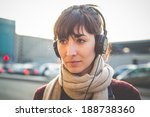 young beautiful hipster woman... | Shutterstock . vector #188738360