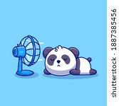 cute panda sleeping in front of ...   Shutterstock .eps vector #1887385456