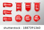 price tag vector collection.... | Shutterstock .eps vector #1887391360