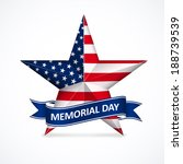 memorial day with star in... | Shutterstock . vector #188739539