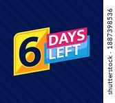 6 days left countdown banner... | Shutterstock .eps vector #1887398536