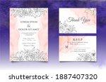 elegant hand drawing floral... | Shutterstock .eps vector #1887407320