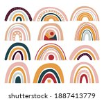 collection of rainbows ... | Shutterstock .eps vector #1887413779