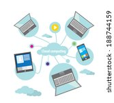 flat concept of cloud computing ...