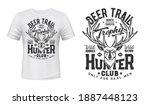 Tshirt Print With Deer  Vector...