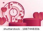 podium round round  and paper...   Shutterstock .eps vector #1887448306