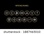 witches runes vector icons set. ...   Shutterstock .eps vector #1887465010