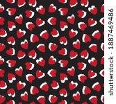 Red Heart Shaped Brush Stroke...