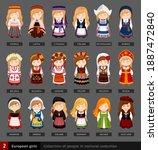 european girls in national...   Shutterstock .eps vector #1887472840