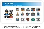 esport  icons set. ui pixel...