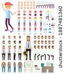 create character. set of... | Shutterstock .eps vector #1887481360