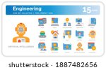 engineering  icons set. ui...