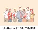 business team  brainstorm ... | Shutterstock .eps vector #1887489013