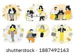 modern set office workers  soft ...   Shutterstock .eps vector #1887492163