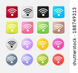 wi fi web icon set for web and... | Shutterstock .eps vector #188749313