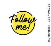 follow me icon. vector flat...   Shutterstock .eps vector #1887496216