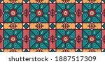 seamless arabic geometric tile... | Shutterstock .eps vector #1887517309