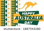 australia day. national happy... | Shutterstock .eps vector #1887543280