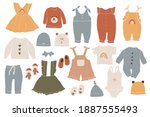 baby boho clothes  abstract... | Shutterstock .eps vector #1887555493