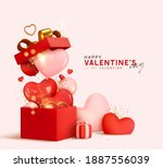 valentine's day design.... | Shutterstock .eps vector #1887556039