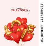 valentine's day background with ... | Shutterstock .eps vector #1887559396