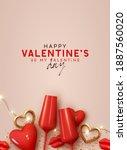 happy valentines day.... | Shutterstock .eps vector #1887560020