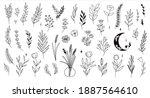 set of cute trendy mystical... | Shutterstock .eps vector #1887564610