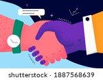 handshake  deal  business...   Shutterstock .eps vector #1887568639