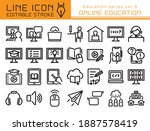 online education vector icon... | Shutterstock .eps vector #1887578419