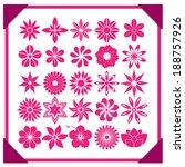 set of vector flowers | Shutterstock .eps vector #188757926