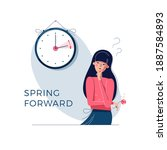 daylight saving time. confused... | Shutterstock .eps vector #1887584893