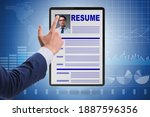 recruitment and employment... | Shutterstock . vector #1887596356