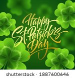 golden handwriting lettering... | Shutterstock .eps vector #1887600646