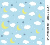 seamless baby pattern  wallpaper | Shutterstock .eps vector #188761154