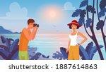 man photographing vector... | Shutterstock .eps vector #1887614863