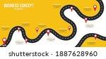 infographic road illustration...   Shutterstock .eps vector #1887628960