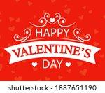 happy valentine's day... | Shutterstock .eps vector #1887651190